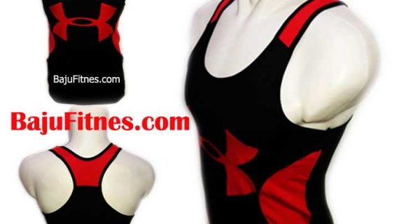 TANKTOP UA BIG LOGOS BLACK IN RED DRY