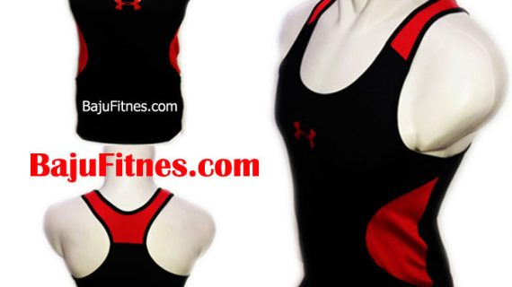 TANKTOP UA LOGOS BLACK IN RED DRY