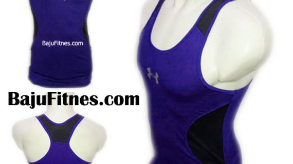 TANKTOP UA LOGOS BLUE IN BLACK DRY