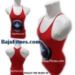 SINGLET THE HEART OF CAPTAIN AMERICA RED