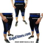 JOGER SHORT BLACK & BLUE FOUR FLAGS