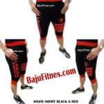 JOGER SHORT BLACK & RED FOUR FLAGS