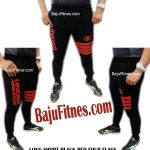 LONG SHORT BLACK RED FOUR FLAGS