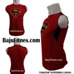 TANKTOP SUPERMAN LOGOS RED BLACK GROSS