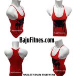 SINGLET VENUM FIGH WEAR RED BLACK