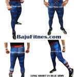 LONG SHORT US BLUE ARMY COMPRESSION