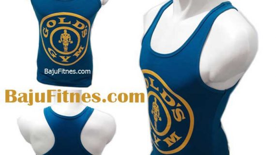 TANKTOP GOLD GYM PRO MEDIUM BLUE YELLOW