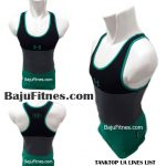 TANKTOP UA LINES LIST BLACK GREY GREEN