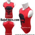 TANKTOP THE PUNISHER RED BLACK DRY