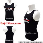 TANKTOP UNDER ARMOUR BIG LOGOS BLACK RED