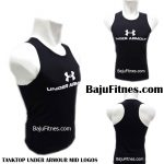 TANKTOP UNDER ARMOUR MID LOGOS BLACK WHITE