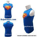 TANKTOP SUPERMAN LOGOS RED BLUE