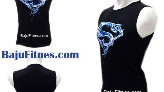 TANKTOP BLUE LIGHTING SUPERMAN BLACK