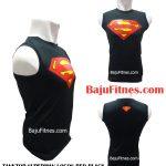 TANKTOP SUPERMAN LOGOS RED BLACK
