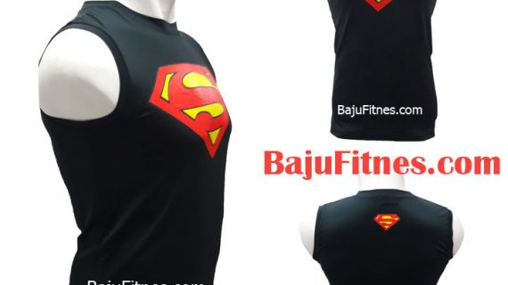 TANKTOP SUPERMAN LOGOS RED BLACK