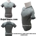UA SOLDIER MUSCLE LOOKS GREEN MOSS BLACK COMPRESSION