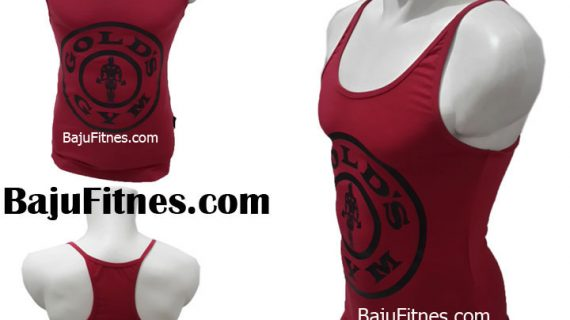 SINGLET GOLD GYM PRO RED BLACK