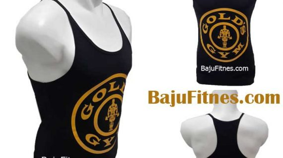 SINGLET GOLD GYM PRO BLACK YELLOW