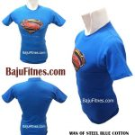 MAN OF STEEL BLUE COTTON