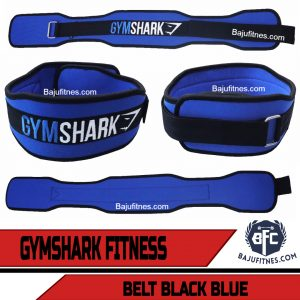 GYMSHARK FITNESS BELT BLACK BLUE